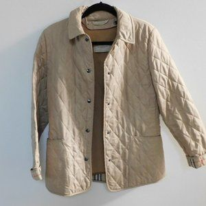 Ladies Burberry Quilted Jacket Removable Lining S